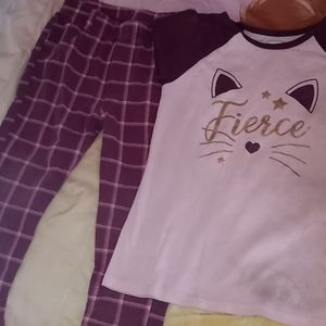 Pink and Maroon Plaid Cat Outfit